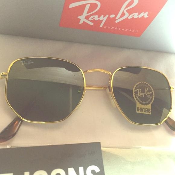 1a780e2cad Ray Ban Hexagonal rb3548 51mm Sunglasses Hex Metal